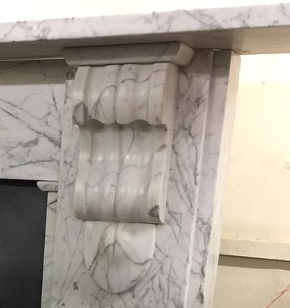 Victorian Carrara marble surround