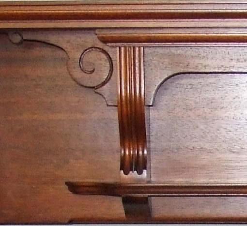 Reclaimed Mahogany wood surround detail