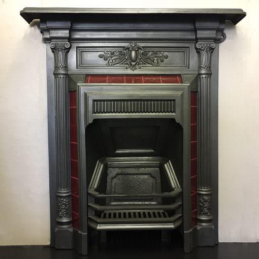 Original cast iron tiled bedroom fire