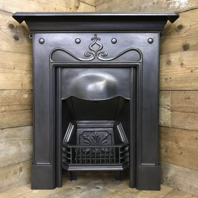 Art Nouveau Bedroom fireplace