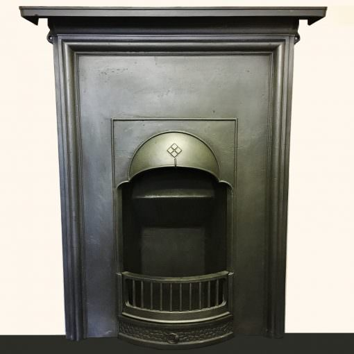 Original Edwardian bedroom fireplace