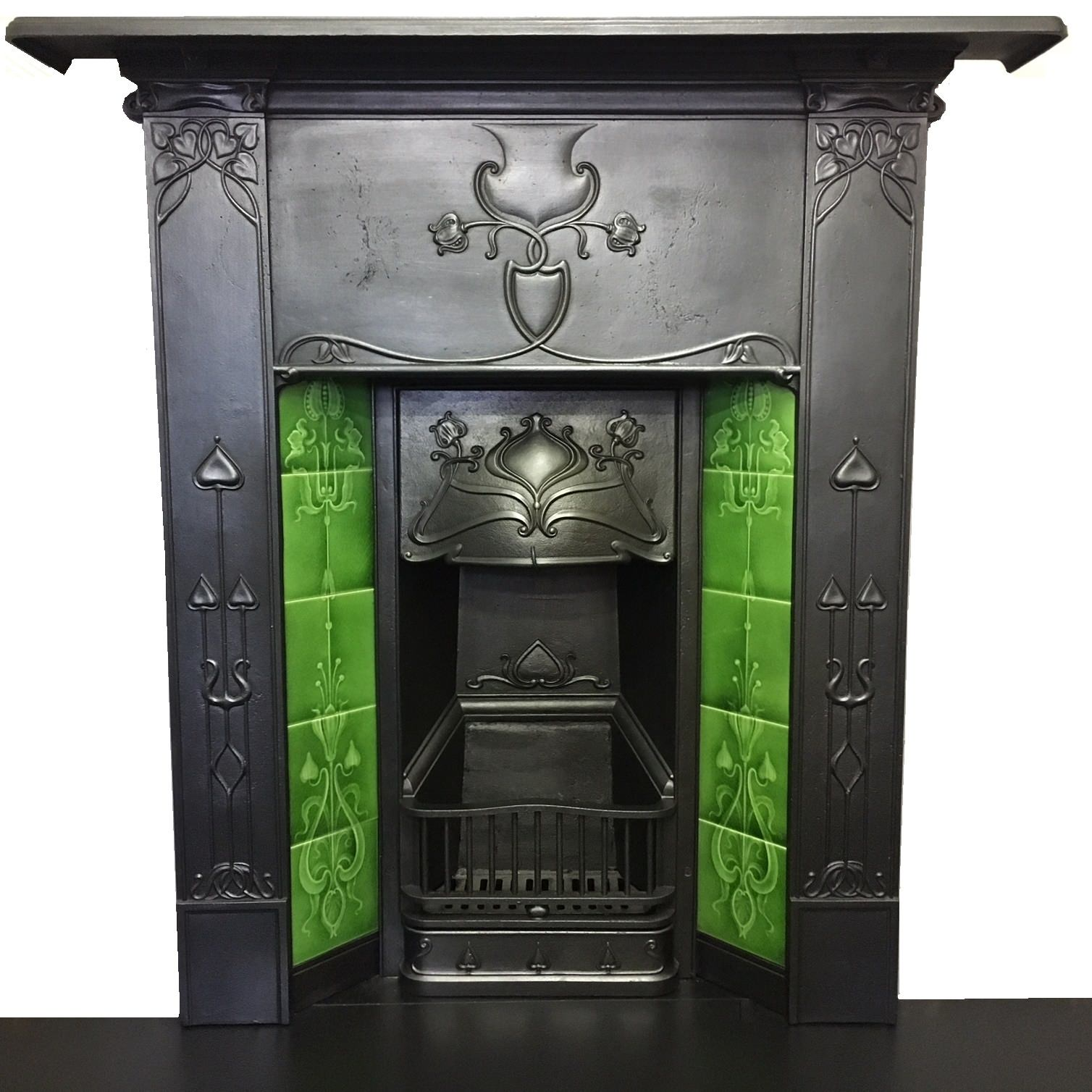 Antique Art Nouveau fireplace