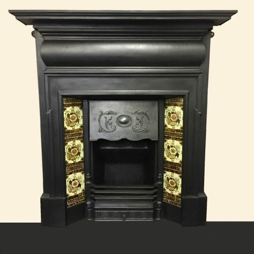Late Victorian tiled Fireplace