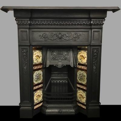 Original Victorian Tiled Fireplace