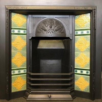 Victorian Cast Iron Tiled insert