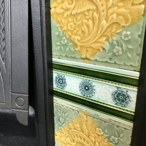 Victorian Cast Iron Tiled insert