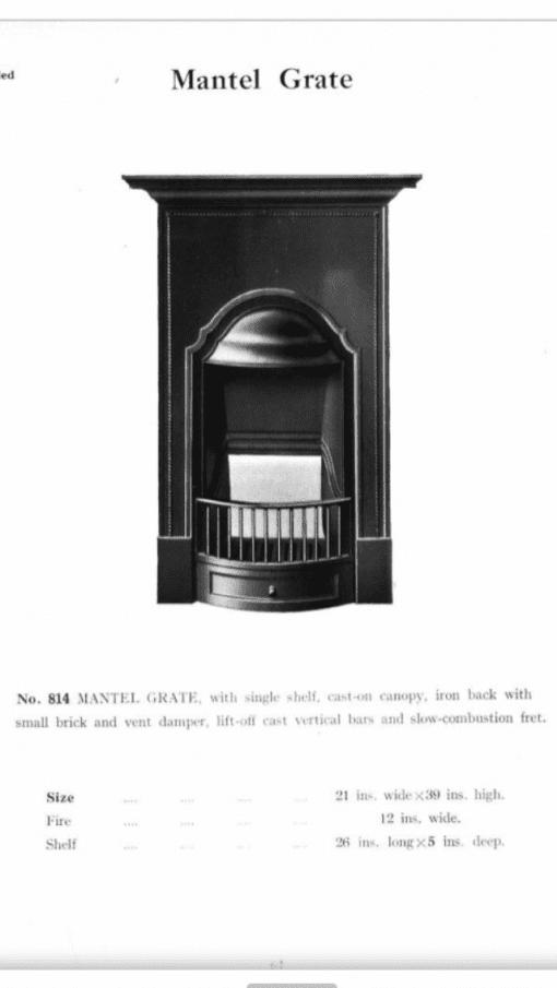 Original Cast Iron bedroom fireplace