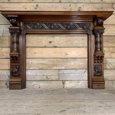 Original carved Oak surround