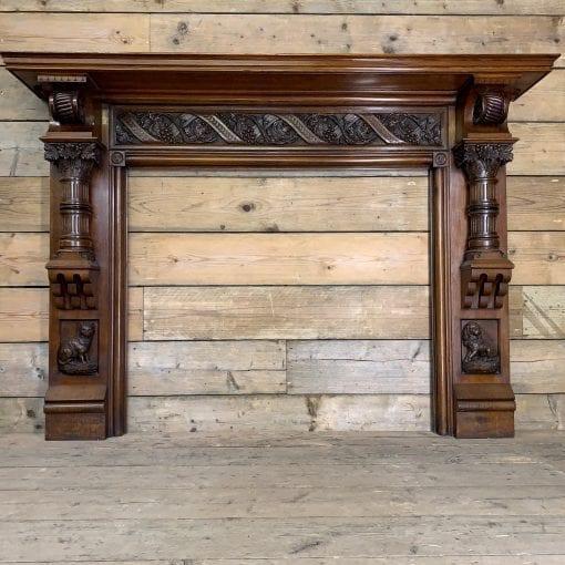 Original carved Oak surround