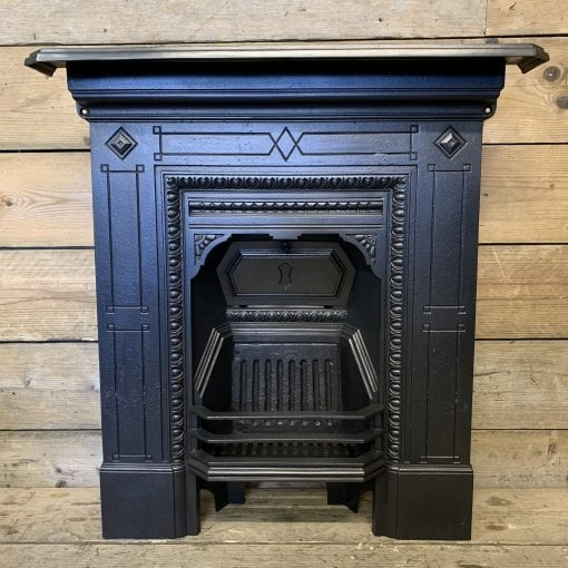 Original Victorian bedroom fireplace