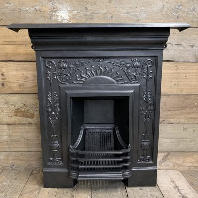 Art Nouveau combination fireplace