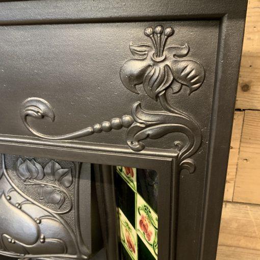 Original Art Nouveau combination grate